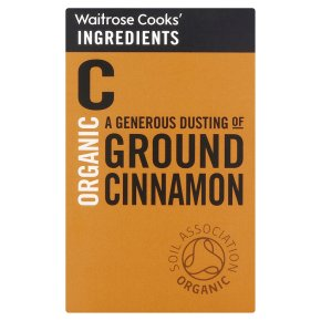 Waitrose Cooks' Ingredients organic ground cinnamon