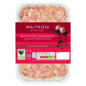 Waitrose British gourmet pork sausagemeat