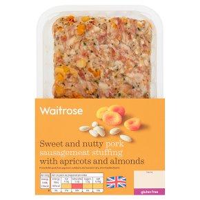 Waitrose apricot & almond sausagemeat stuffing