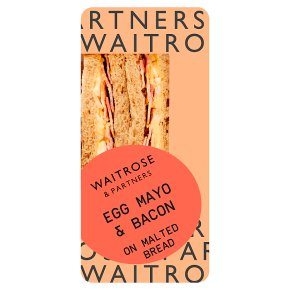 Waitrose egg mayonnaise & bacon sandwich