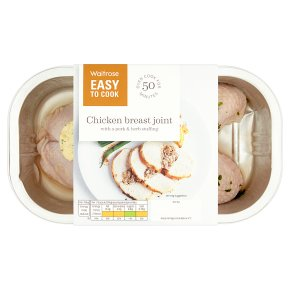Waitrose Easy To Cook chicken breast joint with pork, lemon & herb stuffing