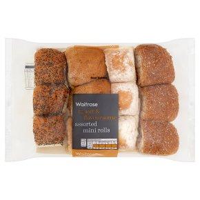 Waitrose assorted mini rolls