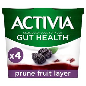 Activia fruit layer prune yogurts