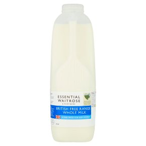 essential Waitrose whole milk 3.6% fat 2 pints