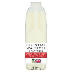 essential Waitrose Skimmed Milk