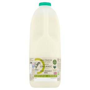 Waitrose Duchy Organic semi-skimmed milk un-homogenised