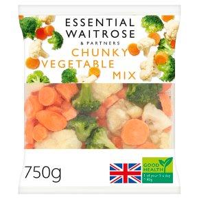 essential Waitrose Chunky Vegetable Mix