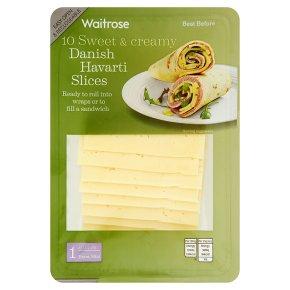 Waitrose sliced Danish havarti 1 extra mild