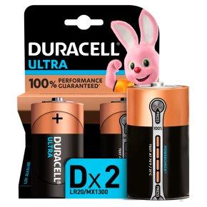Duracell Ultra Power D Batteries Alkaline