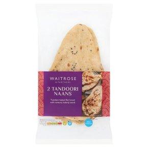 Waitrose 2 plain tandoori naan breads
