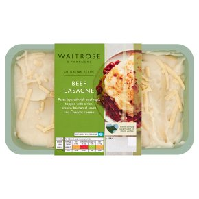 Waitrose beef lasagne
