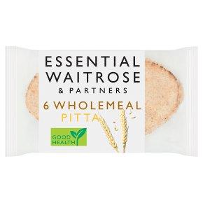 essential Waitrose wholemeal pitta