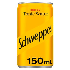 Schweppes, tonic water, single can