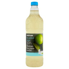 Waitrose lime juice cordial