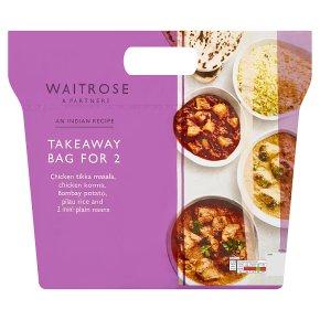 Waitrose Indian takeaway for 2