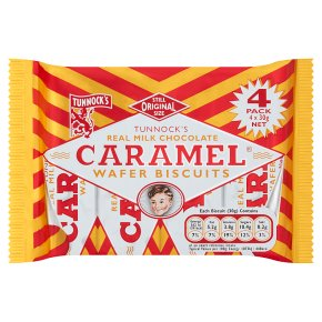 Tunnock's caramel wafer biscuits