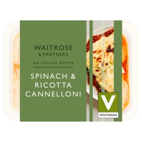 Waitrose spinach cannelloni