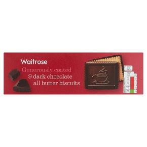 Waitrose continental dark chocolate butter biscuits