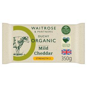 Waitrose Duchy Organic English cheddar cheese, strength 2