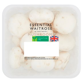 essential Waitrose closed cup mushrooms