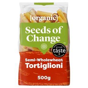 Seeds of Change organic tortiglioni semi wholewheat pasta