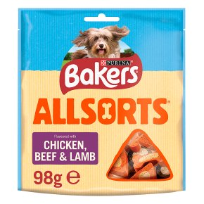 Bakers Allsorts Dog Treats Chicken and Beef