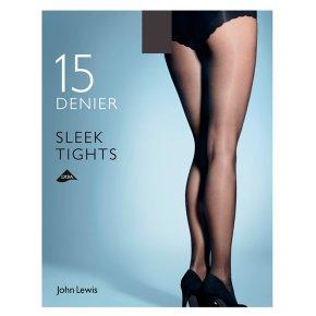 John Lewis Sleek Natural Black Tights - Large