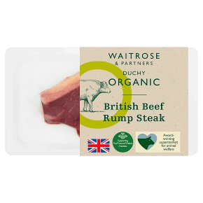 Waitrose Duchy Organic British beef rump steak