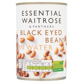 essential Waitrose canned blackeye beans in water