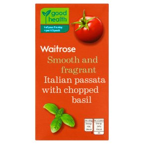 Waitrose passata with chopped basil