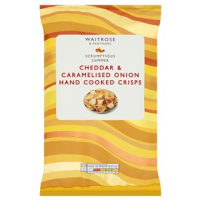 Waitrose hand cooked cheddar & onion crisps