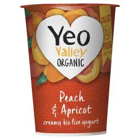 Yeo Valley organic apricot & peach yogurt