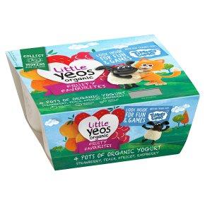 Little Yeos Organic Fruity Favourites Kids Yogurts
