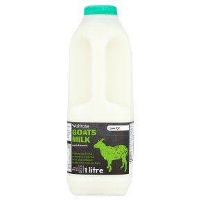 Waitrose semi skimmed fresh goat's milk