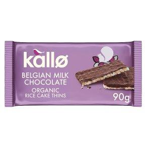 Kallo organic milk chocolate rice cake thins
