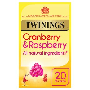 Twinings cranberry & raspberry 20 tea bags