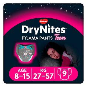 Drynites Pyjama Pants,Girl age 8-15 yrs, 27-57kg