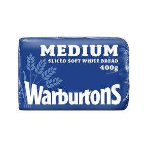 Warburtons medium sliced white bread