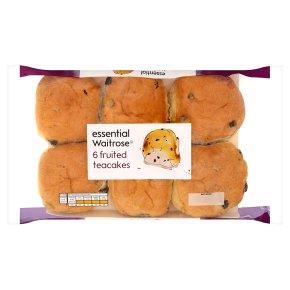 essential Waitrose fruited teacakes
