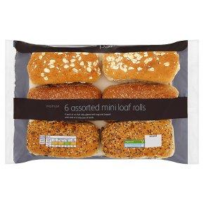Waitrose assorted mini loaf rolls