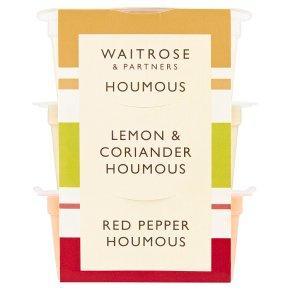 Waitrose flavoured houmous snack pots