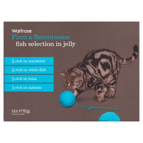 Waitrose special recipe cat food, fish selection - 12 x 85g pouches