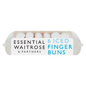 essential Waitrose iced finger buns