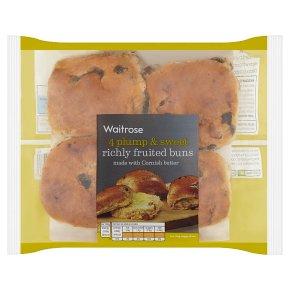 Waitrose richly fruited buns