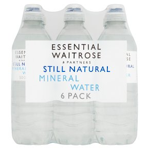 essential Waitrose still mineral water sports cap