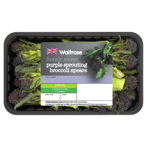 Waitrose purple sprouting broccoli spears