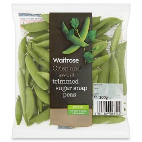 Waitrose trimmed sugar snap peas