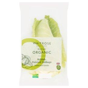 Waitrose Duchy Organic pointed cabbage