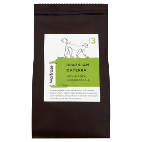 Waitrose 1 Brazilian daterra 100% arabica ground coffee