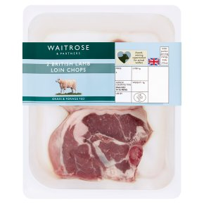 Waitrose Welsh 2 hand cut lamb loin chops